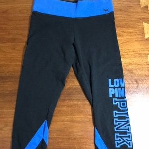 PINK black and blue yoga capris size small